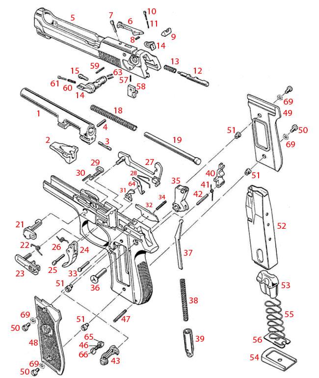 Beretta® 92/96 FS Compact Schematic - Brownells UK