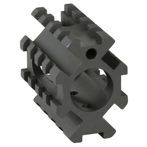 AR-15 Gas Block 4-Rail Picatinny .750 Steel Black