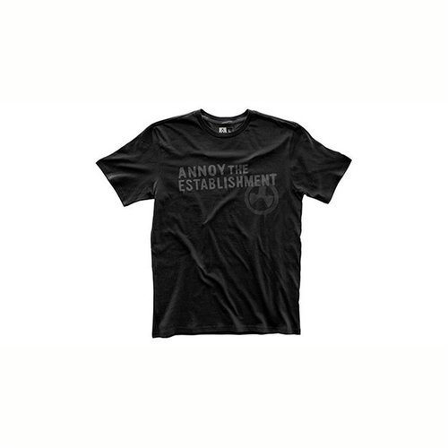 Fine Cotton Establish Annoyment T-Shirt Black 3X