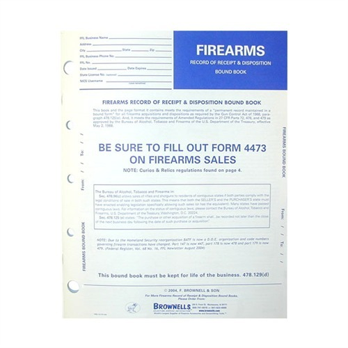 Brownells Firearms Record Book Brownells Uk