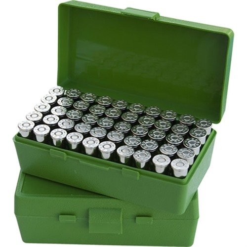 Ammo Boxes Pistol Green 38-357 50