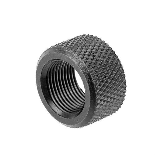 Knurled Thread Protector 1/2-28 Black