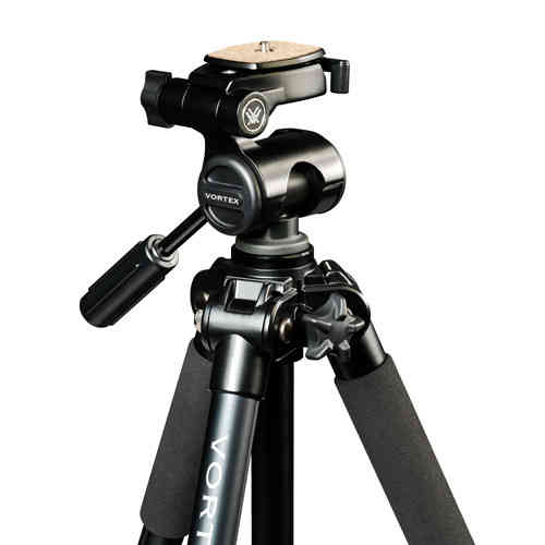 Pro-GT Tripod includes 3-way pan head